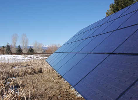 Ground Mount Solar Array in Green Wood Village Colorado